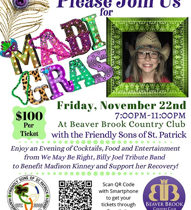 Madi Gras – An evening to benefit Madi Kinney